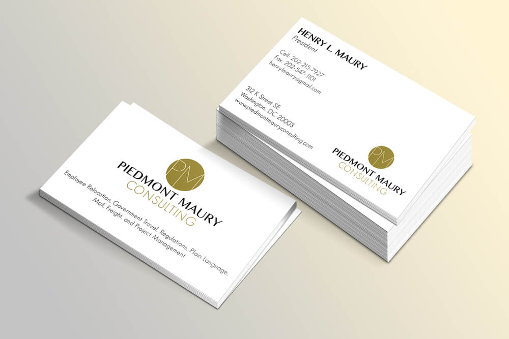 Pmc logo design business card i also created their logo and business cards since they primarily deal with the us government i wanted to create a sophisticated yet simple logobut reheart